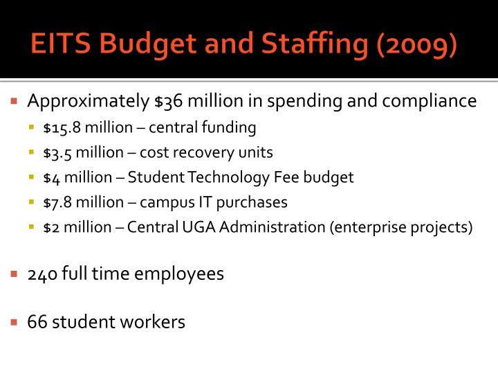 EITS Budget and Staffing (2009)