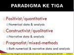 paradigma ke tiga