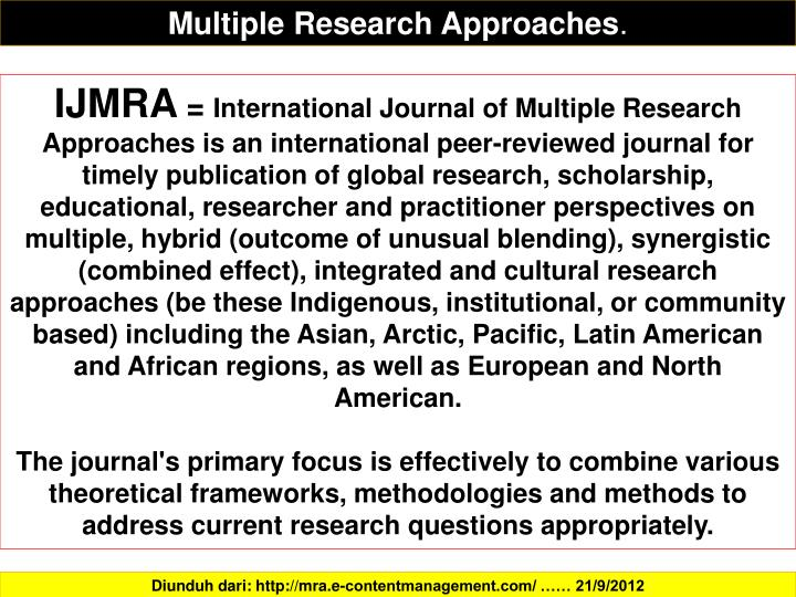 Multiple Research Approaches