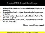 tipologi mmr empat basic designs
