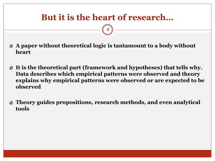 But it is the heart of research