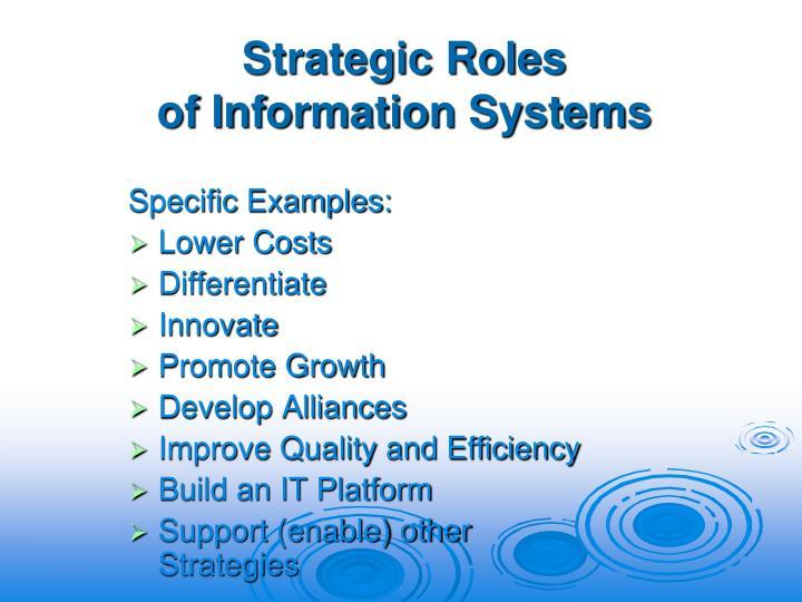 Strategic Roles