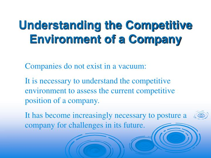 Understanding the Competitive Environment of a Company