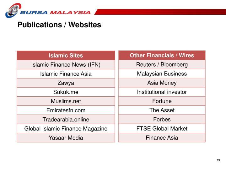 Publications / Websites