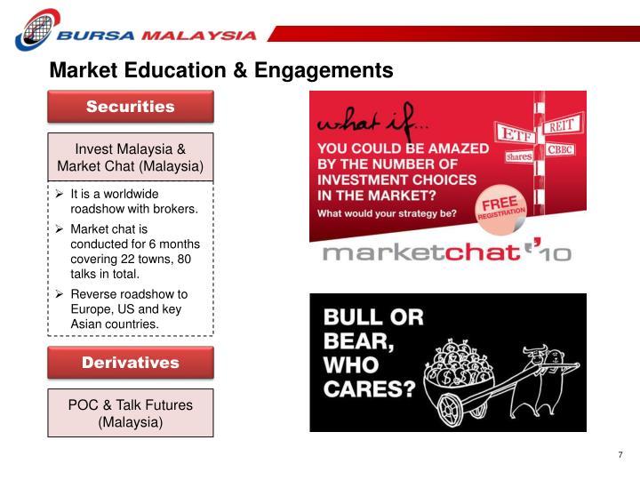 Market Education & Engagements