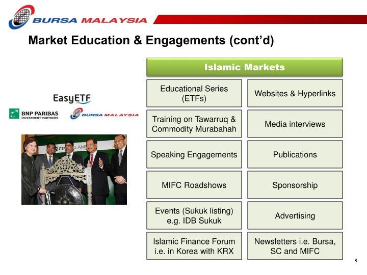 Market Education & Engagements (cont'd)