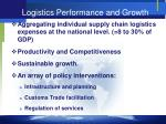 logistics performance and growth
