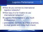 logistics performance