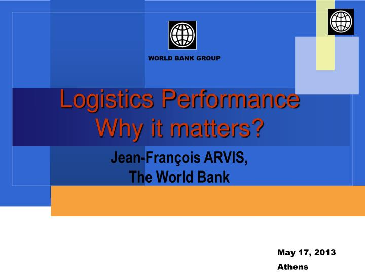 Logistics performance why it matters