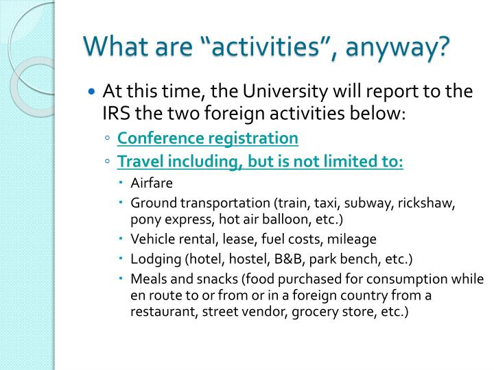 "What are ""activities"", anyway?"