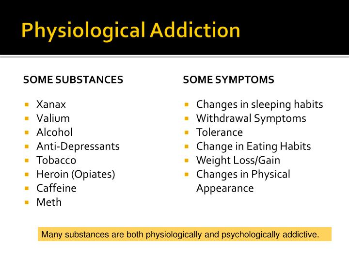 what is a physiological addiction