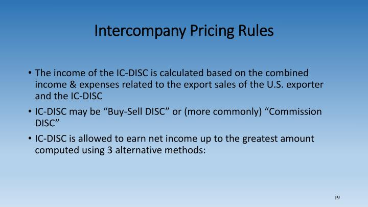 Intercompany Pricing Rules