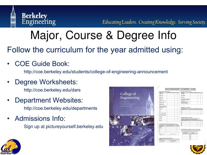 Major, Course & Degree Info