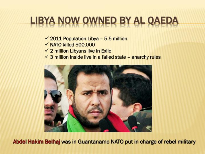 Libya now owned by al