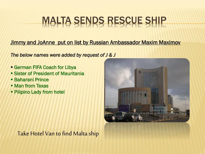Malta sends rescue ship