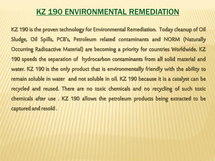 KZ 190 ENVIRONMENTAL REMEDIATION