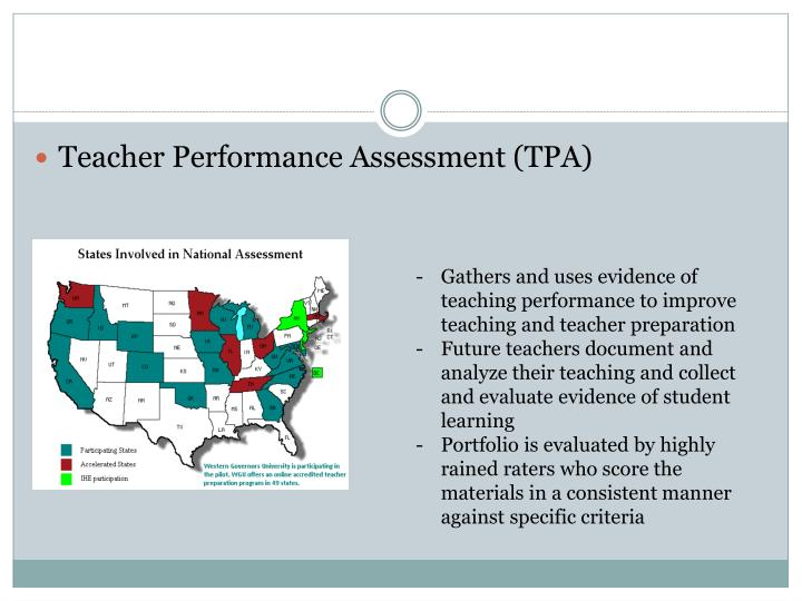 Assessing Teacher Candidate Performance