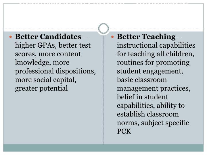 EFFECTIVE TEACHERS – EFFECTIVE TEACHING