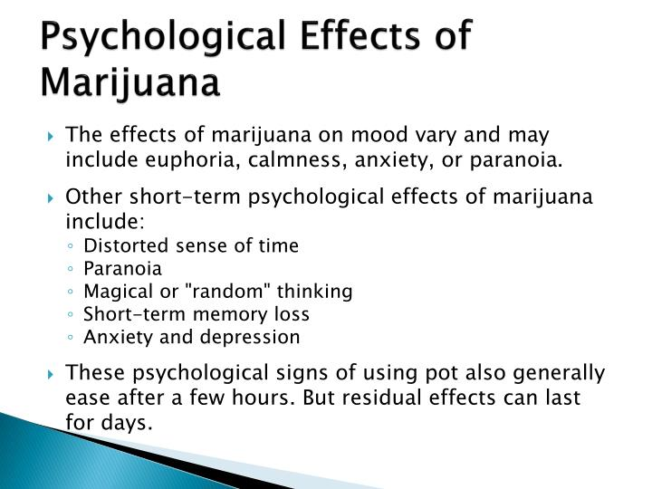 sociological effects of marijuana Micro-normative approach: social relationships and drug use social learning and marijuana use in one of the earliest and most important sociological studies of drug use, howard becker (1953) interviewed dozens of marijuana users about their initial experiences with the drug.