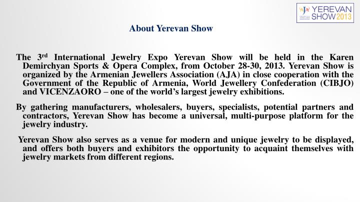 About Yerevan Show