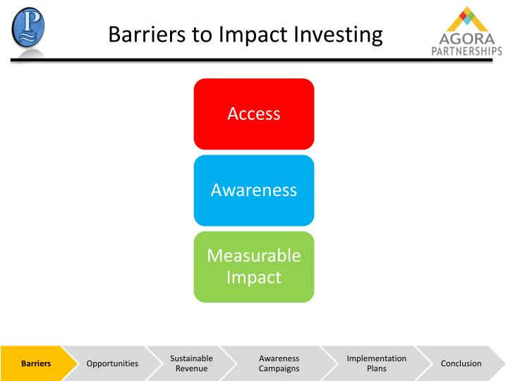 Barriers to Impact Investing