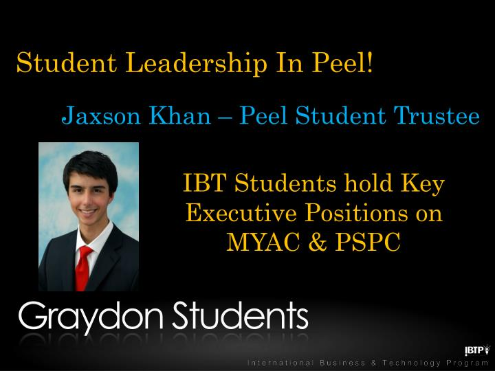 Student Leadership In Peel!