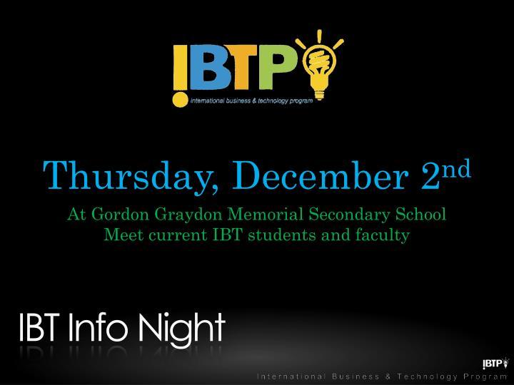 Thursday, December 2
