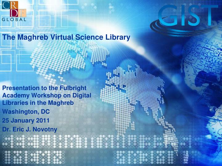 The maghreb virtual science library
