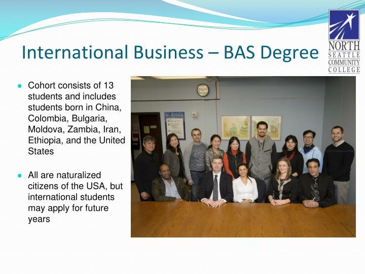 International Business – BAS Degree