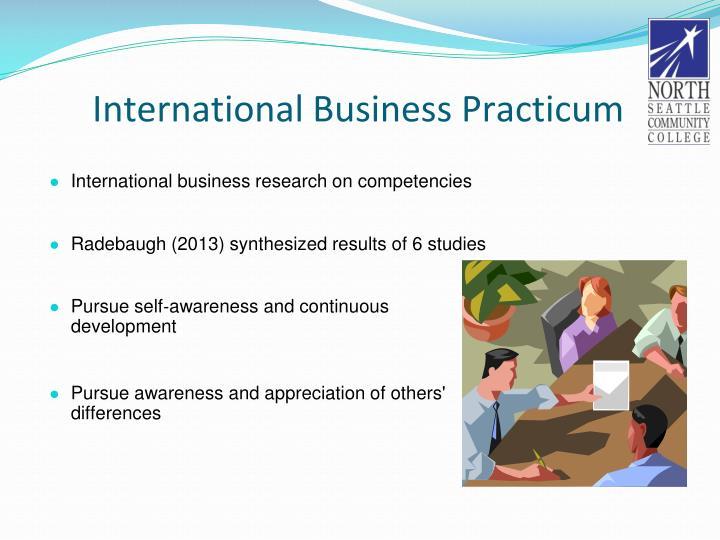 International Business Practicum