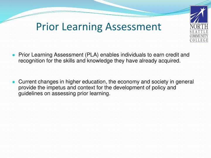 Prior Learning Assessment