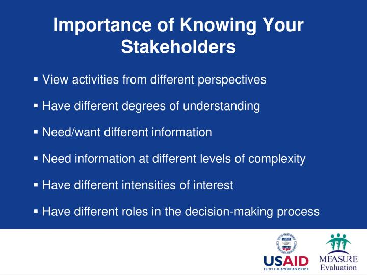 Importance of Knowing Your Stakeholders