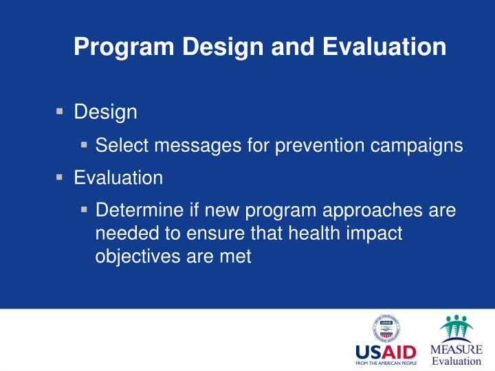 Program Design and Evaluation