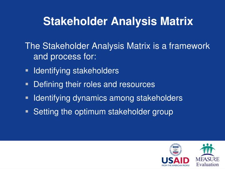 Stakeholder Analysis Matrix