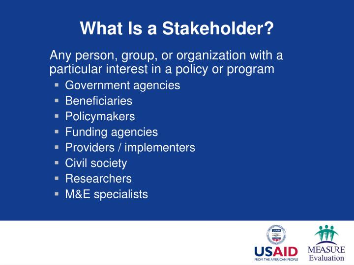 What Is a Stakeholder?