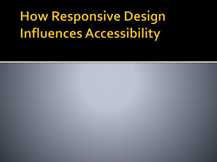 How Responsive Design