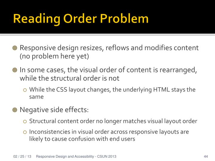 Reading Order Problem