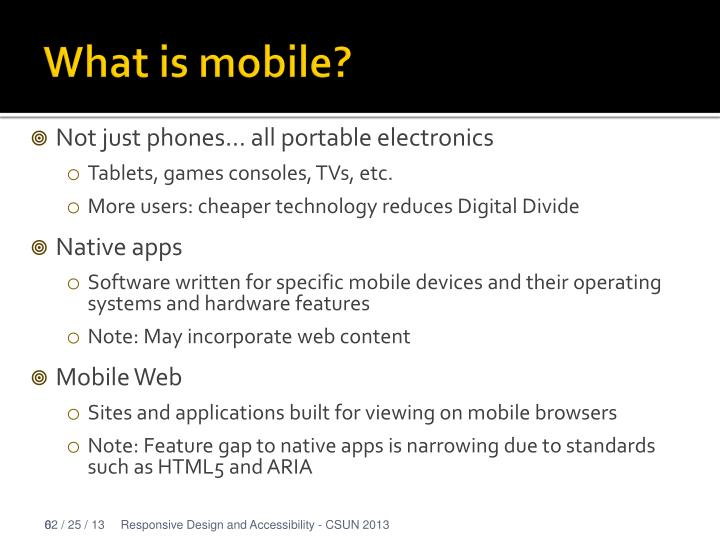 What is mobile?