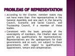 problems of representation