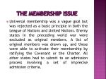 the membership issue