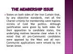 the membership issue3