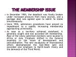 the membership issue5
