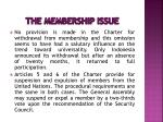the membership issue6