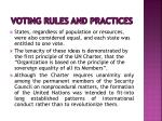 voting rules and practices1
