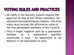 voting rules and practices6