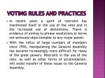 voting rules and practices8