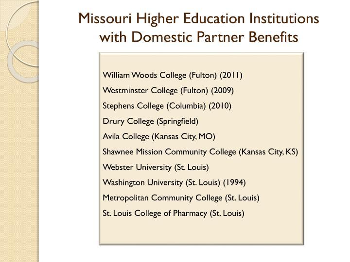 Missouri Higher Education Institutions