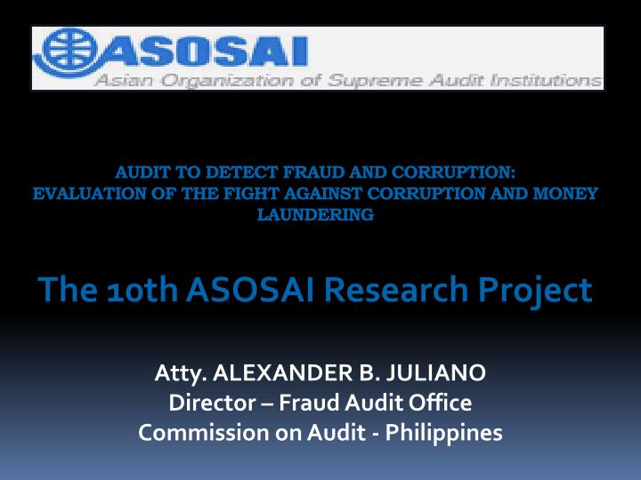 AUDIT TO DETECT FRAUD AND CORRUPTION:
