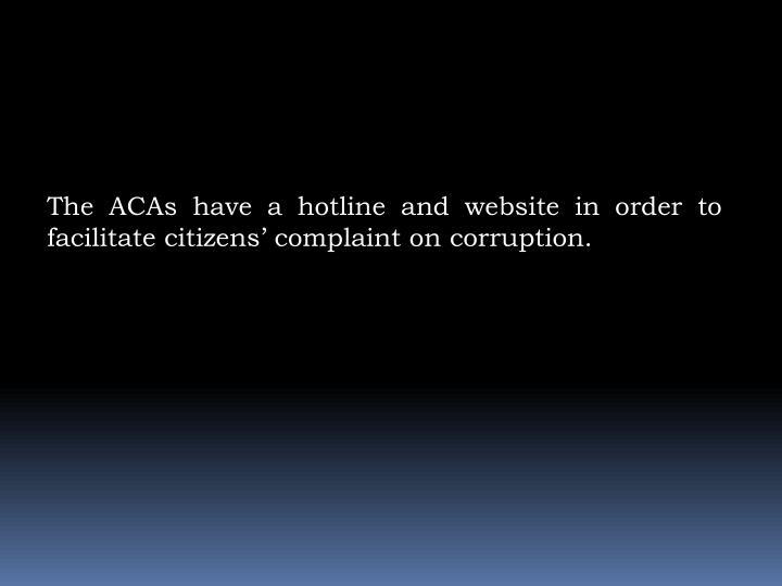The ACAs