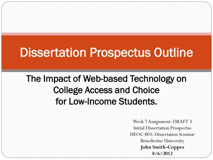 dissertation prospectus project plan Guidelines for dissertation prospectus the dissertation prospectus or of questions you plan to address in the project this part of the prospectus usually.